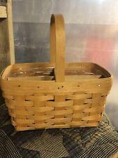 Longaberger Spring Basket with Protector /Wooden Divider