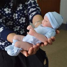 FULL VINYL SILICONE REBORN BABY DOLLS HANDMADE GIRL GIFT NEWBORN DOLL 11INCH