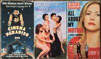 Best Foreign Language Film Academy Award Winners 3 VHS Lot (Cinema Paradiso, +)