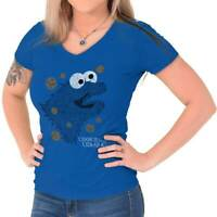 Cookies Are Coming Monster Fantasy TV Show Womens Juniors Petite V-Neck Tee