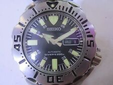 SEIKO DIVER 200 MEN'S WATCH AUTOMATIC S/ S RUBBER JAPAN SKX779K