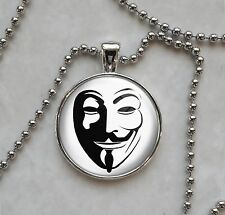 Guy Fawkes Anonymous Pendant Necklace
