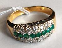 585/- ECHT GOLD *** Smaragd Ring  Gr. 59  (19)