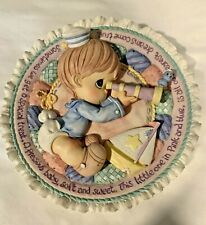 Precious Moments 3D Baby Sailor Boy Hanging Plate w/Birth Info On Back – Retired