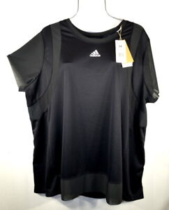 Adidas Women's Heat RDY Black Training T-shirt Top Blouse Pullover 4X NWT