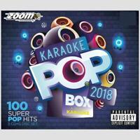 Karaoke CDG Discs - Zoom Pop Box Hits Of 2018, 100 Chart Hits 5 CD+G Disc Set