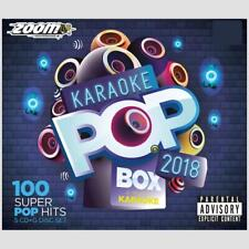 Karaoke CDG Discs - Zoom Pop Box Hits Of 2018, 100 Chart Hits 5 CD+G Disc Set