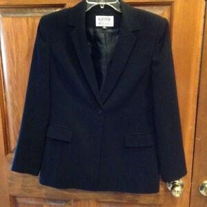 Kasper ASL Petite Blazer Jacket Size 6P Fully Lined Black