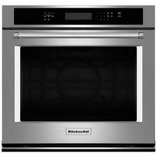 """KitchenAid 30"""" Stainless Steel Single Electric Convection Wall Oven KOSE500ESS"""