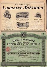 Automobiles Lorraine de Dietrich Luneville 1935  France + original vintage ad