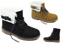 Damen Winterschuhe Boots Damenschuhe Stiefelette Outdoor Schuhe mit Kunstfutter