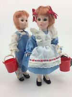 Vintage Effanbee Jack N Jill Collectible Doll Set 11 Inches 1975
