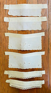 3 PAIR ANTIQUE WOMEN'S CUFFS W/EMBROIDERY & LACE, OFFERED AS IS, LOT 3 –