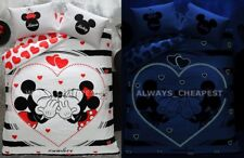 MINNIE & MICKEY VALENTINE'S DAY DOUBLE QUEEN SIZE BEDDING DUVET QUILT COVER SET
