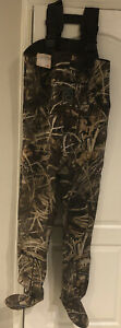 Waders For Men XL Ducks Unlimited Waist High Neoprene With Hat