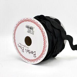 32mm Oversized Jumbo Ric Rac Trim - Black