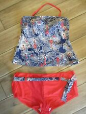 ladies  swimwear halterneck TANKINI BOY SHORTS SIZE 16