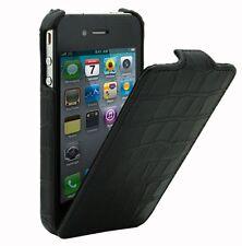 Melkco Custodia in pelle per Apple iPhone 4 / 4S-Jacka STAMPA COCCODRILLO NERO h1535