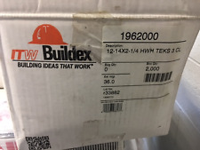 Buildex 1962000  Teks® 3 HWH CL 12-14 x 2-1/4''  2000/BX