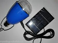 Solar Panel Powered LED Light, AC DC Solar rechargable LED Bulb with Solar cell