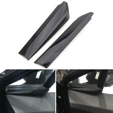 For Toyota C-HR 16-18 Carbon Fiber Style A Pillar Sound Speaker Base Cover Trim