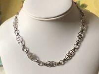 """Vintage 925 Sterling Silver Necklace. 15"""""""