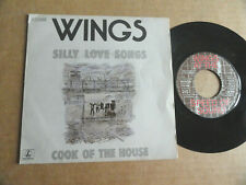 "DISQUE 45T DE WINGS  "" SILLY LOVE SONGS """
