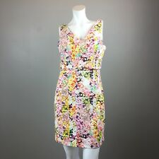 Jessica Simpson Summer Casual Cotton Dress Floral Sleeveless Lined Womens Size 4