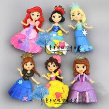 6 Disney Princess Snow White Sofia Action Figures Doll Kid Toy Cake Topper Decor