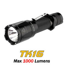 Fenix TK16 Cree XM-L2 U2 LED 1000lms Dual Tactical Tail Switch Flashlight Torch