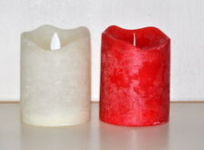 TWO CANDLES LED FLICKERING ELECTRIC BATTERY TEALIGHTS LIGHTS WEDDING CANDLE