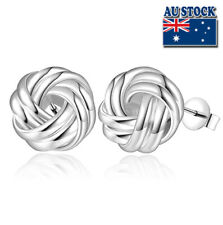 Wholesale Stunning 925 Sterling Silver Filled Lovely Knot Stud Earrings Gift