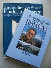 2 Bücher Edmund Hillary durch Himalaya Buch frühen Entdeckungsreisen in Farben
