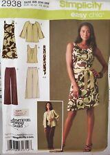 Simplicity easy chic pattern 2938 Women's Dress or Top, Pants sz 20W-28W uncut