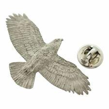 Hawk Flying Pin ~ Antiqued Pewter ~ Lapel Pin