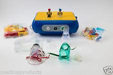 Child Pediatric Nebulizer Aerosol Compressor with Kit Lego Model Asthma Allergy