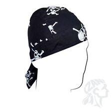 Pirate Skull Crossbone Doo Rag Headwrap Cap Zan Headgear Biker Helmet Liner ATV