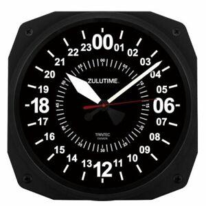 "24 hr. ""Zulutime"" 10"" Aviation Instrument-Style Wall Clock by Trintec TRI-0101"