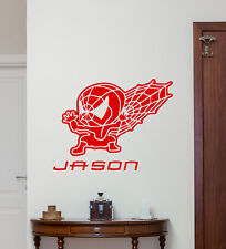 Custom Name Spiderman Wall Decal Superhero Kids Personalized Vinyl Sticker 44thn