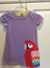 NWT 2/3 Mini Boden Lavender Dress with Parrot Applicade SOOOO Cute