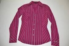 EXPRESS DESIGN STUDIO PURPLE PINK WHITE STRIPED DRESS SHIRT WOMENS SIZE XS