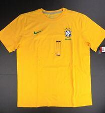 Nike men's Brasil CBF t-shirt sz L yellow style 518667 Brazil  NEW!