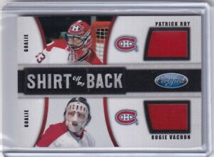 11-12 CERTIFIED SHIRT OFF MY BACK CANADIENS JERSEY PATRICK ROY & VACHON 25/25