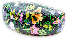 Brand New Flower Pattern Hard Clam Shell Eyeglass Eyewear Sunglasses Case