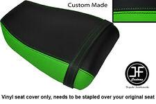 BLACK LIGHT GREEN VINYL CUSTOM FOR KAWASAKI NINJA ZXR 400 91-03 REAR SEAT COVER