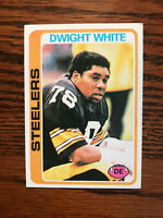 1978 Topps #255 Dwight White Football Card Pittsburgh Steelers Raw