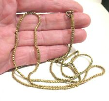 MIRIAM HASKELL GOLD FILLED CHAIN NECKLACE 31 INCHES LONG 11.7 GRAMS