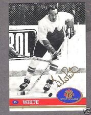 1972 Team Canada Bill White Autographed Card