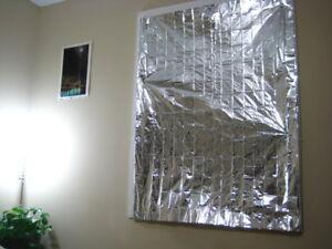 LOT of 4 Heat Sun Reflecting Window Curtain Attic RV SAVE MONEY HEATING COOLING