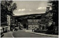Triberg Schwarzwald Postkarte 1954 gelaufen Marktplatz mit Hauptstraße Personen